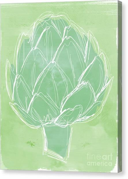 Cooking Canvas Print - Artichoke by Linda Woods