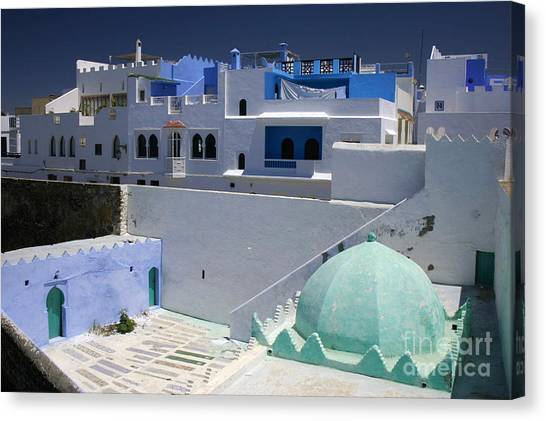 Asilah Meaning Authentic In Arabic Fortified Town On Northwest Tip Of Atlantic Coast Of Morocco Canvas Print by PIXELS  XPOSED Ralph A Ledergerber Photography