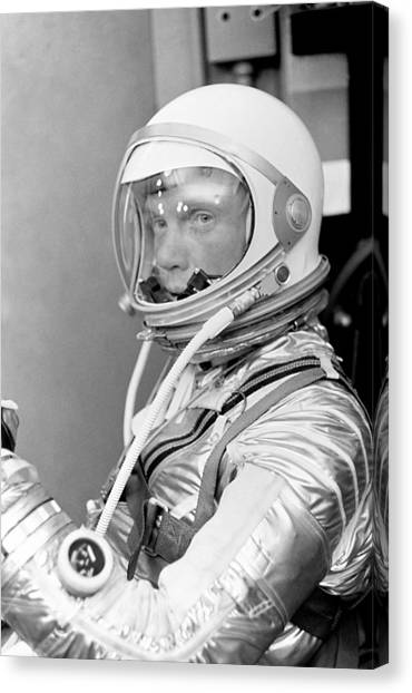 Space Suit Canvas Print - Astronaut John Glenn - Mercury Atlas 6 by War Is Hell Store