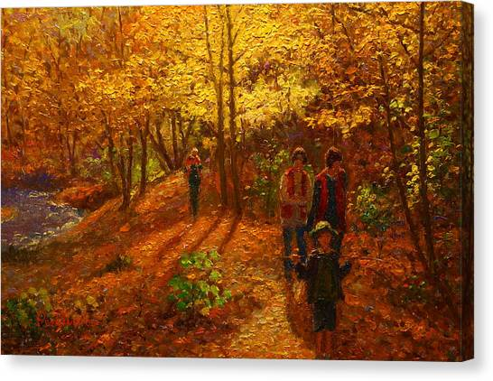 Autumn Bush Creek Track  Canvas Print by Terry Perham