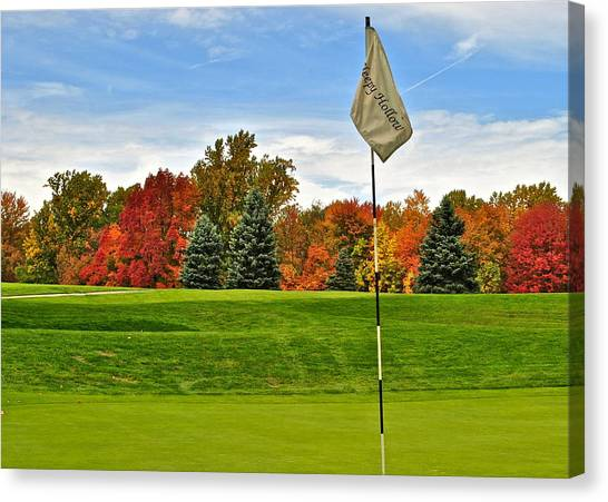 Jack Nicklaus Canvas Print - Autumn Golf by Frozen in Time Fine Art Photography