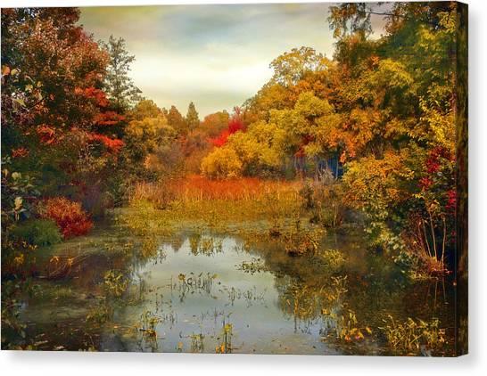 Wetlands Canvas Print - Autumn Wetlands by Jessica Jenney