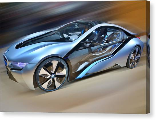 B M W  Edrive I8  Concept  2014 Canvas Print