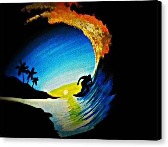 Badwave Canvas Print
