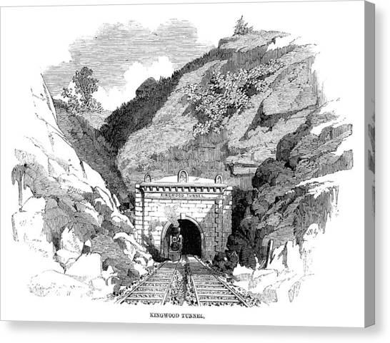 South Baltimore Canvas Print - Baltimore & Ohio Railroad by Granger