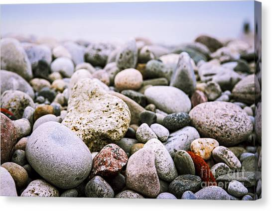 Rivers Canvas Print - Beach Pebbles by Elena Elisseeva
