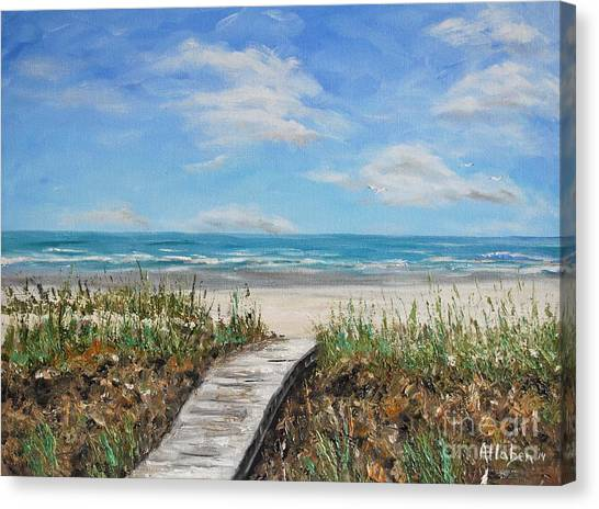 Beach Walkway Canvas Print