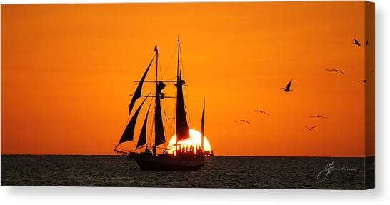 Beautiful Sunset Canvas Print