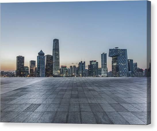 Beijing City Square Canvas Print by DuKai photographer