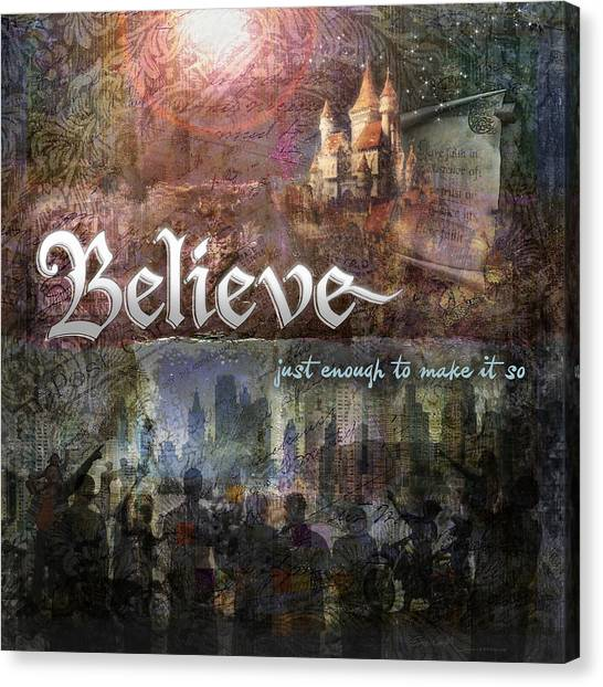 Believe Canvas Print