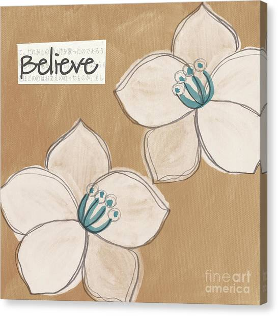 Judaism Canvas Print - Believe by Linda Woods