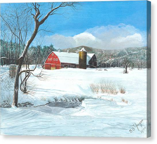 below freezing in New England Canvas Print