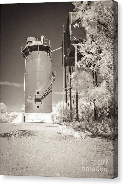Beresford Siding Outback Australia Canvas Print by Colin and Linda McKie