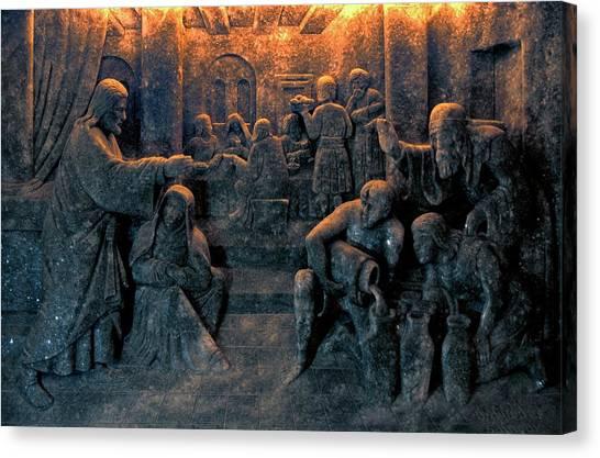Biblical Scene Canvas Print by Patrick Landmann/science Photo Library