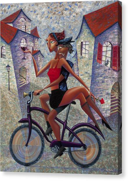Villages Canvas Print - Bike Life by Ned Shuchter