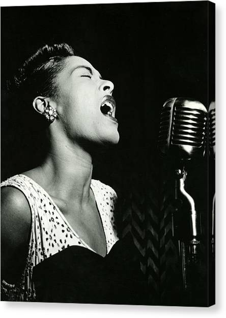 Jazz Canvas Print - Billie Holiday by Retro Images Archive