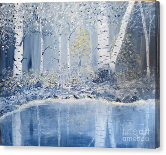 Birch Reflections Canvas Print