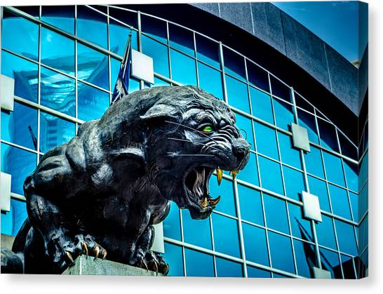 Black Panther Statue Canvas Print
