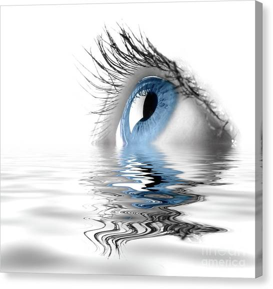 Health Care Canvas Print - Blue Eye by Oleksiy Maksymenko