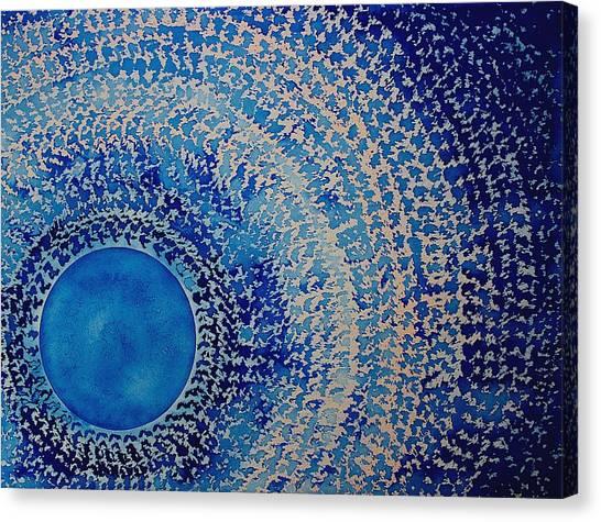 Blue Kachina Original Painting Canvas Print