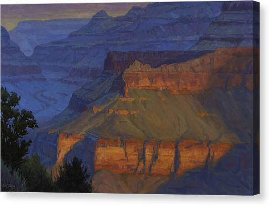 Canyons Canvas Print - Blue Morning by Cody DeLong