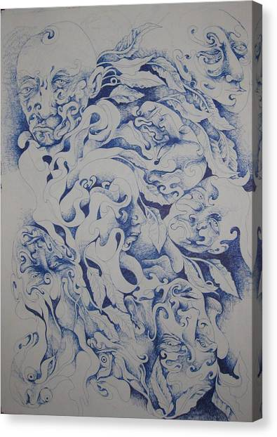Blue Canvas Print by Moshfegh Rakhsha
