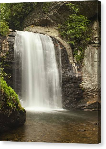 Pisgah National Forest Canvas Print - Blue Ridge Waterfall by Andrew Soundarajan