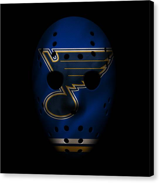 St. Louis Blues Canvas Print - Blues Jersey Mask by Joe Hamilton