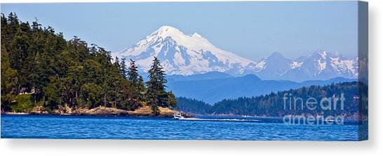 Boating On Puget Sound Canvas Print by Chuck Flewelling