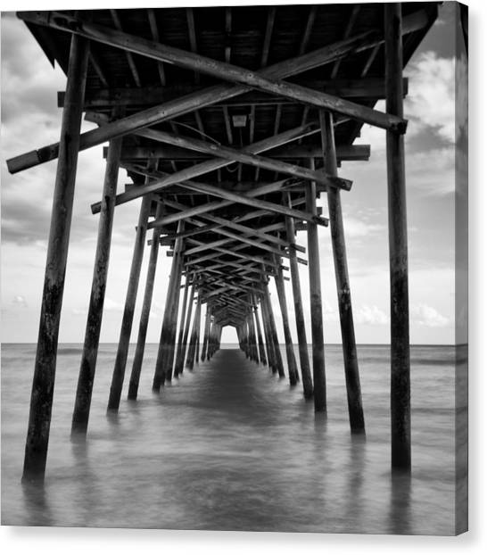 Bogue Inlet Fishing Pier #2 Canvas Print