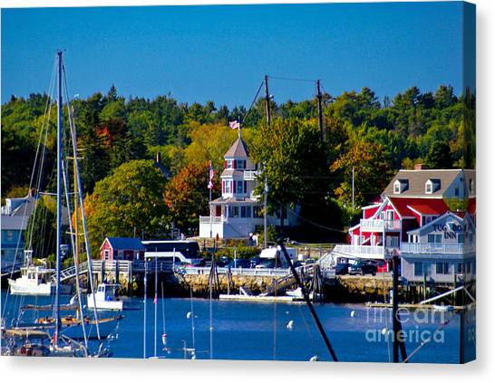 Boothbay Harbor Maine. Canvas Print