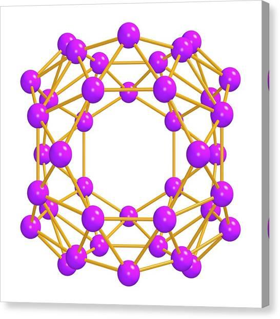 Brown University Canvas Print - Borospherene Molecule by Dr Mark J. Winter