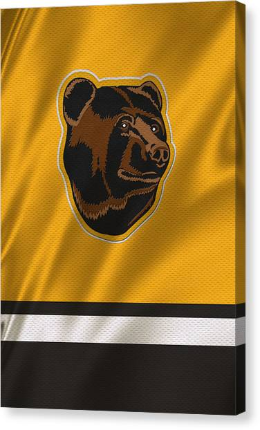 Boston Bruins Canvas Print - Boston Bruins Uniform by Joe Hamilton