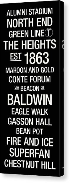 The Forum Canvas Print - Boston College College Town Wall Art by Replay Photos