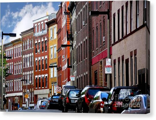 Brick House Canvas Print - Boston Street by Elena Elisseeva