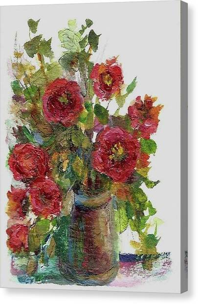 Bouquet Of Poppies Canvas Print