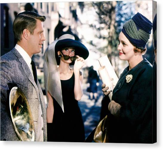 Audrey Hepburn Canvas Print - Breakfast At Tiffany's  by Silver Screen