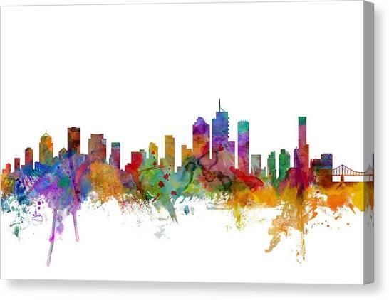 Australian Canvas Print - Brisbane Australia Skyline by Michael Tompsett