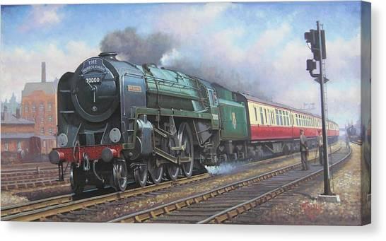 Iron Horse Canvas Print - Britannia Pacific. by Mike Jeffries