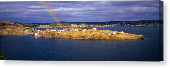 Newfoundland And Labrador Canvas Print - Buildings At The Coast, Trinity Bay by Panoramic Images