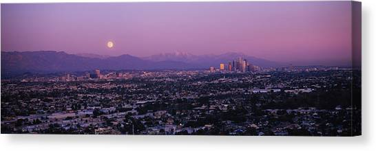 San Gabriel Canvas Print - Buildings In A City, Hollywood, San by Panoramic Images