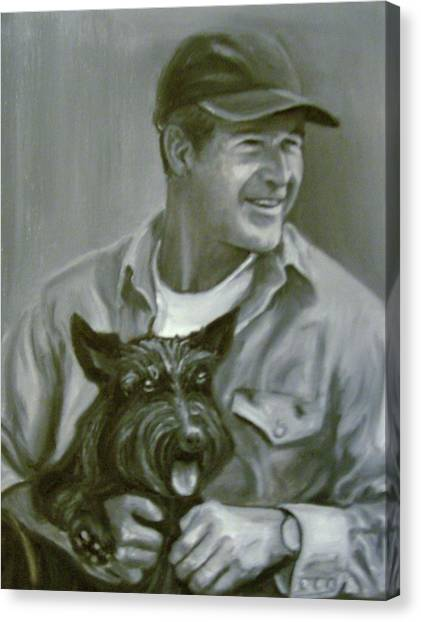 Bush And Barney Canvas Print