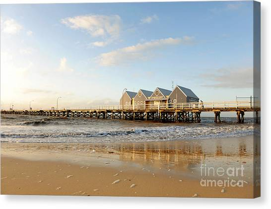 Canvas Print featuring the photograph Busselton Jetty by Yew Kwang