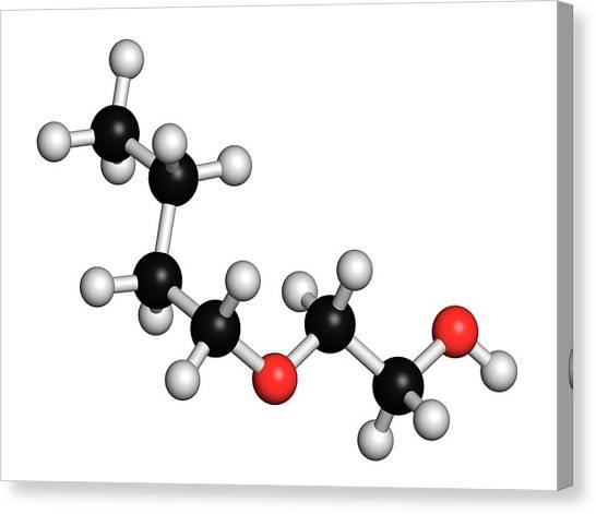 Fracking Canvas Print - 2-butoxyethanol Molecule by Molekuul/science Photo Library