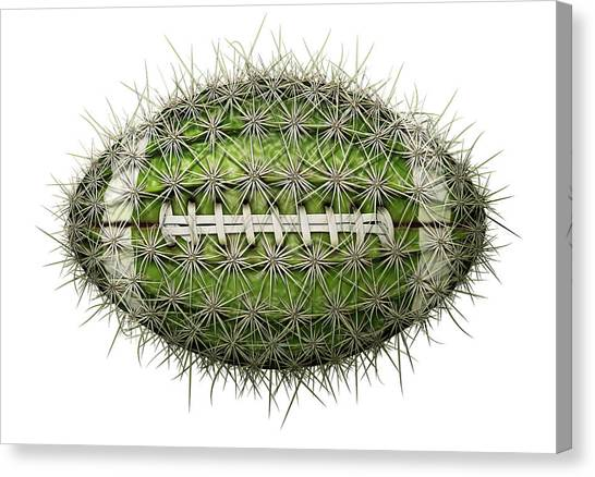 Cactus Football Canvas Print