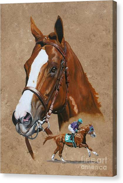 Kentucky Derby Canvas Print - California Chrome by Pat DeLong