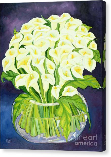 Lily Canvas Print - Calla Lilies by Laila Shawa