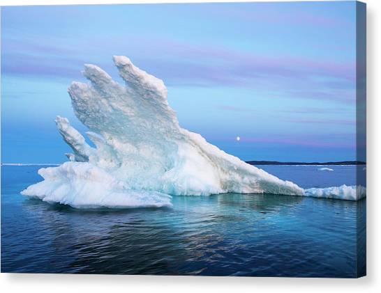 Nunavut Canvas Print - Canada, Nunavut Territory, Moon Rises by Paul Souders