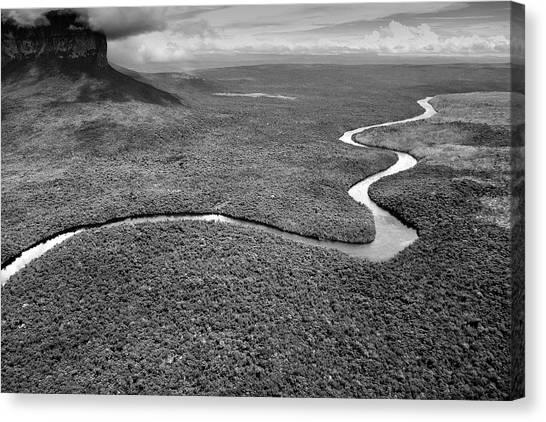 Angel Falls Canvas Print - Canaima National Park, Canaima by David Santiago Garcia