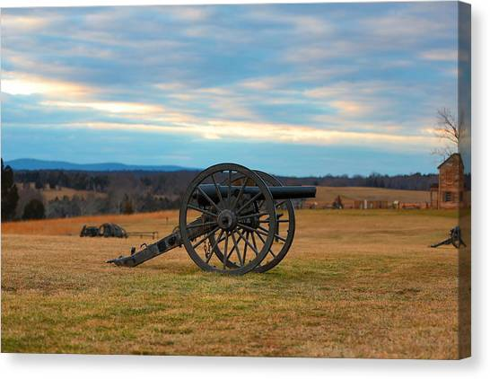 Cannons Of Manassas Battlefield Canvas Print